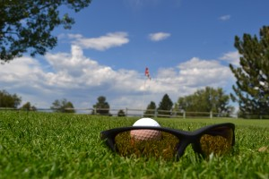 Polarized sunglass lens for golf.