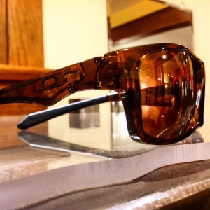 Oakley Jupiter Squared with Custom Progressive, Polarized Rose-Copper lenses.