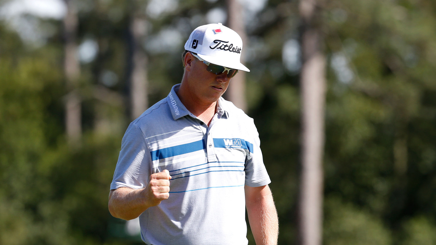Good look at Charley Hoffman's Oakley's during the Masters 2015 Championships.